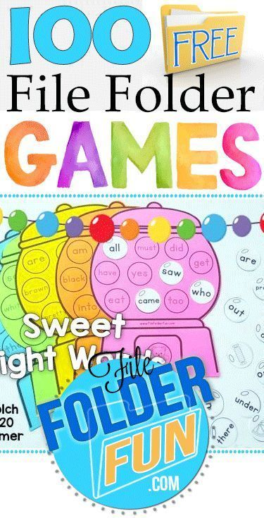 Hundreds of Free File Folder Games at FileFolderFun.com  Games organized by theme or grade level (preschool through third grade)