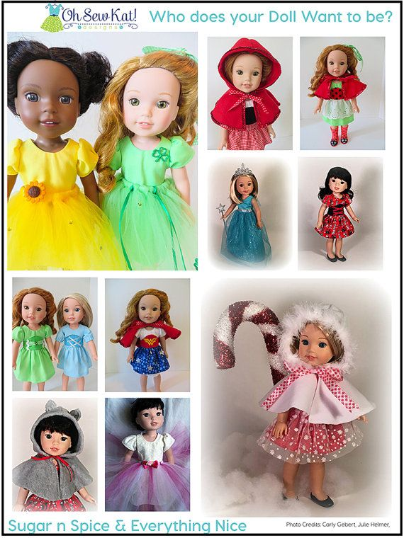 WellieWishers Doll Clothes Sewing Pattern Doll Clothes by OhSewKat