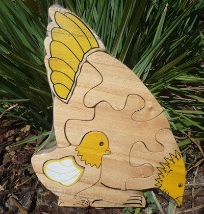 Hen & Chick Wooden Puzzle,  - The Natural Newborn