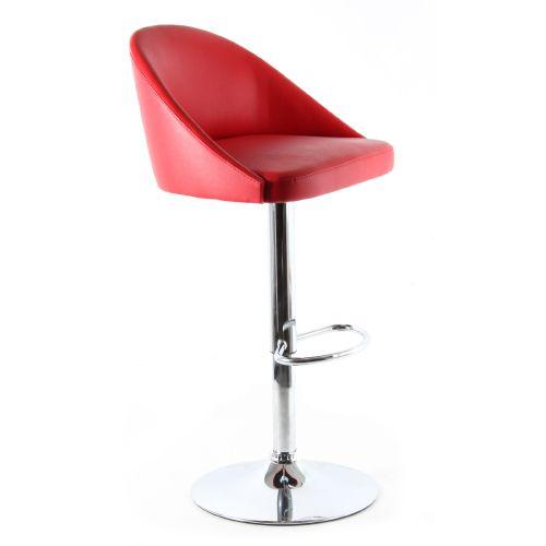 Deri döşemeli hidrolik sistem kromajlı ayaklı bar sandalyesi Siyah-beyaz ve kırmızı döşeme renk seçenekleri mevcuttur. deri döşemeli bar sandalyesi fiyat...