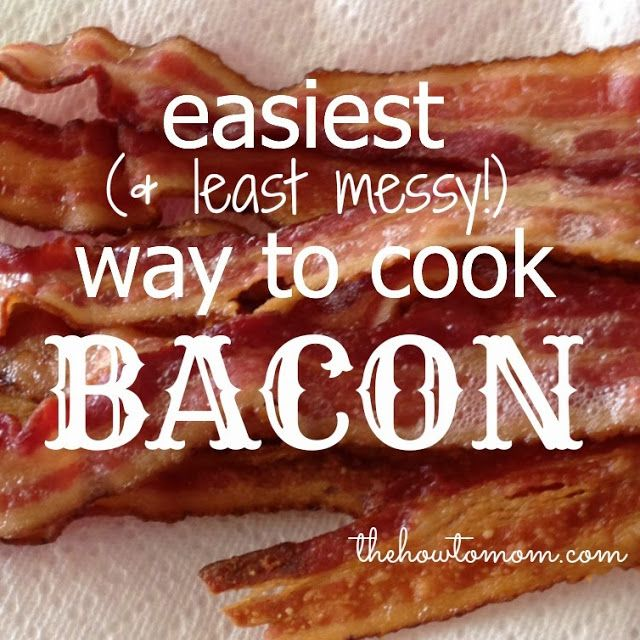 Easiest (and least messy) way to cook bacon! No more dirty stovetops or messy cookie sheets! via The How To Mom