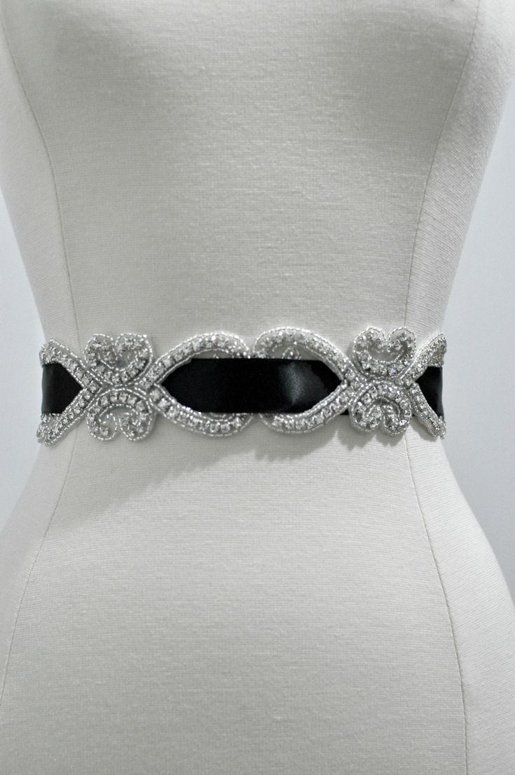 Bridal crystal belt, rhinestone sash-Etsy