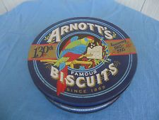 vintage arnotts biscuit  tin 130th anniversary 1995 375g
