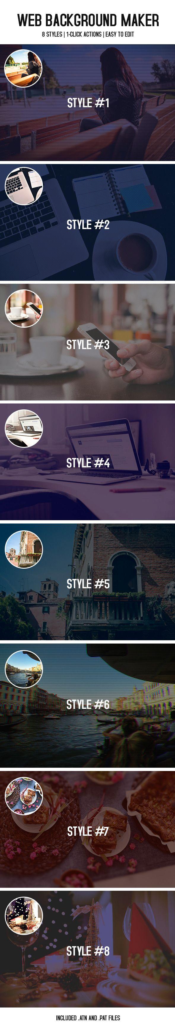 Web Background Maker #photoeffects #actions Download: http://graphicriver.net/item/web-background-maker/9672401?ref=ksioks