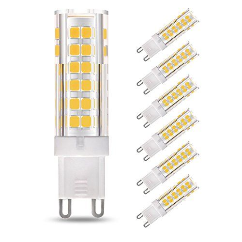 LAKES 6-PACK G9 LED Bulb, 7W(60W Halogen Bulb Equivalent)... I purchased a Kindeep bulb which looks just like this, using in living room wall lights but would prefer a higher wattage
