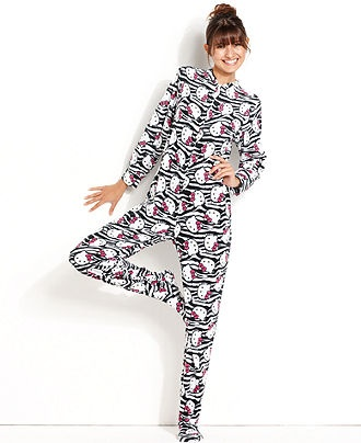 Hello Kitty Footed Pajamas For Adults Breeze Clothing