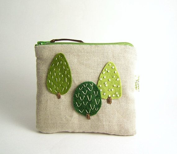 Adorable little zipper pouch from etsy seller SeaPinks.