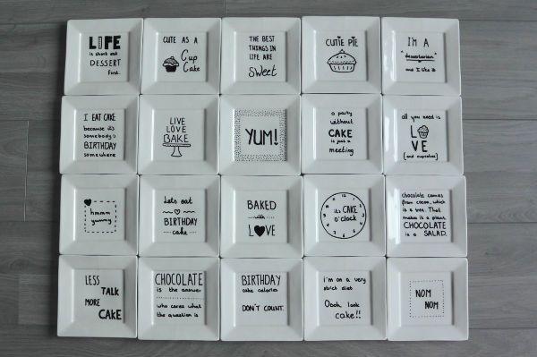 simple thoughts gebaksbordjes versieren 6