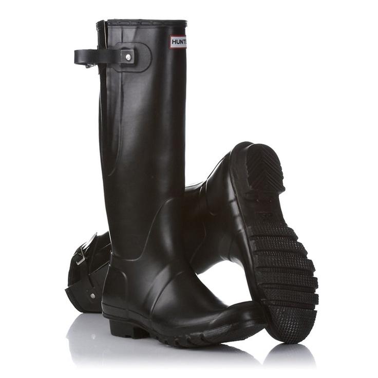 Hunter Wellington Boots - Hunter Original Adjustable Wellington Boots - Black