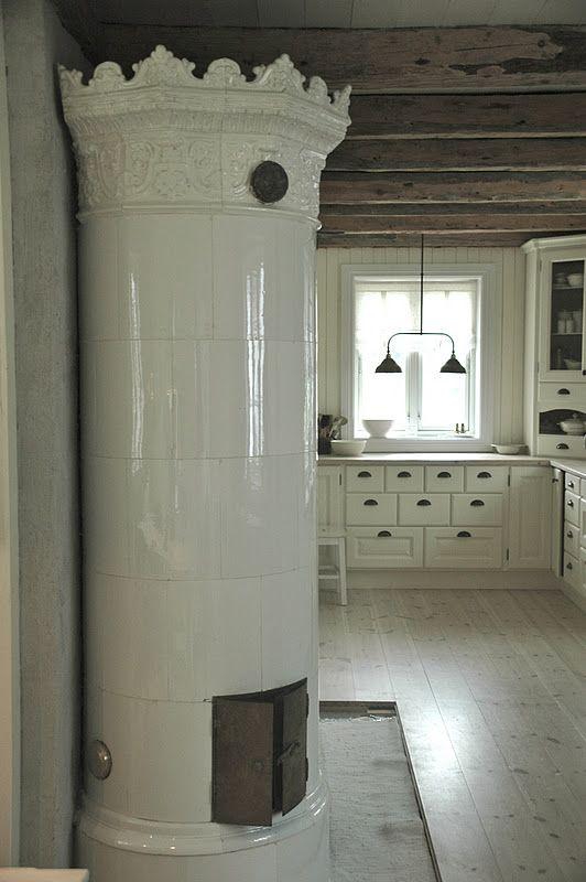 Traditional Norwegian/ Scandinavian Stove~ an excellent heat source, better than the fireplace
