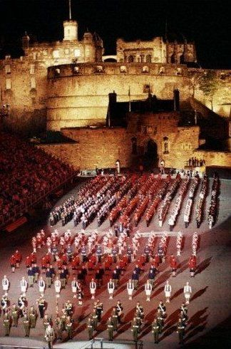 Military Tattoo at Edinburgh Castle in Scotland - So proud when the USAF came by, could hardly control myself (circa1980's).