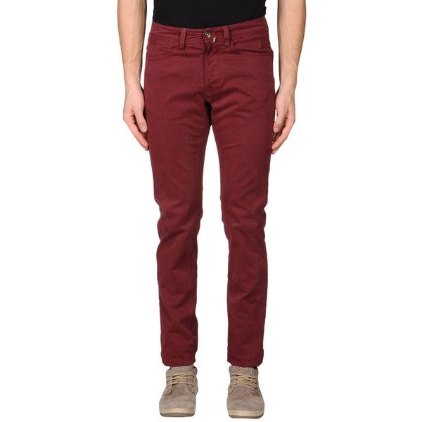 Jaggy Casual Pants ($35) ❤ liked on Polyvore featuring men's fashion, men's clothing, men's pants, men's casual pants, maroon, mens chino pants, mens chinos pants and mens maroon pants