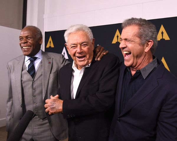 Mel Gibson Photos Photos - (L-R) Danny Glover, Richard Donner and Mel Gibson arrive at The Academy Celebrates Filmmaker Richard Donner at Samuel Goldwyn Theater on June 7, 2017 in Beverly Hills, California. - The Academy Celebrates Filmmaker Richard Donner