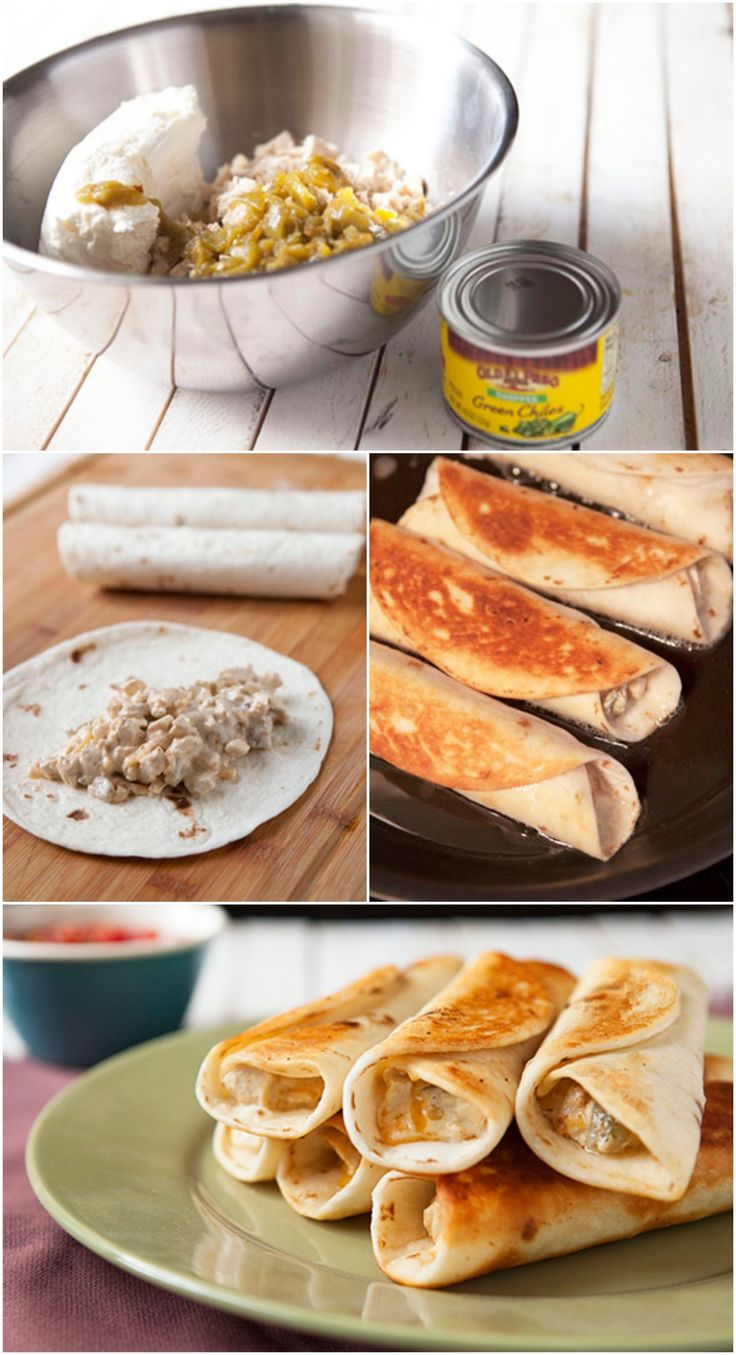 Chicken, Peppers & Cream Cheese Taquitos #oldelpaso