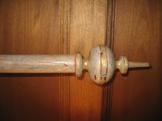 vintage curtain pole