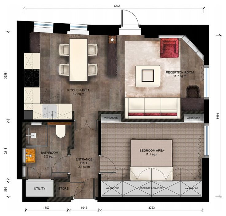 Floor plan by keir townsend the layout is a lesson in how Small condo plans