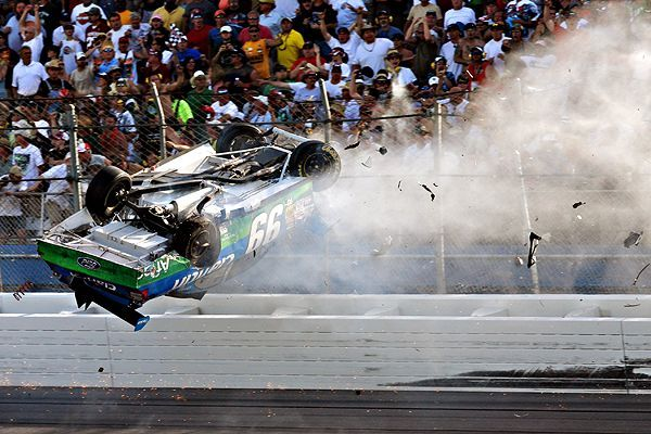 nascar wreck today youtube