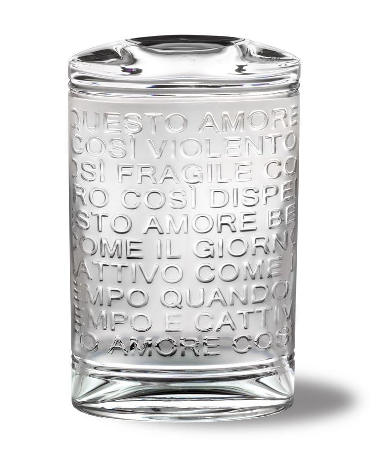 Vaza din Cristal Poesie and Poeti #vaza #cristal #decoratiuni #mariocioni #cadouri