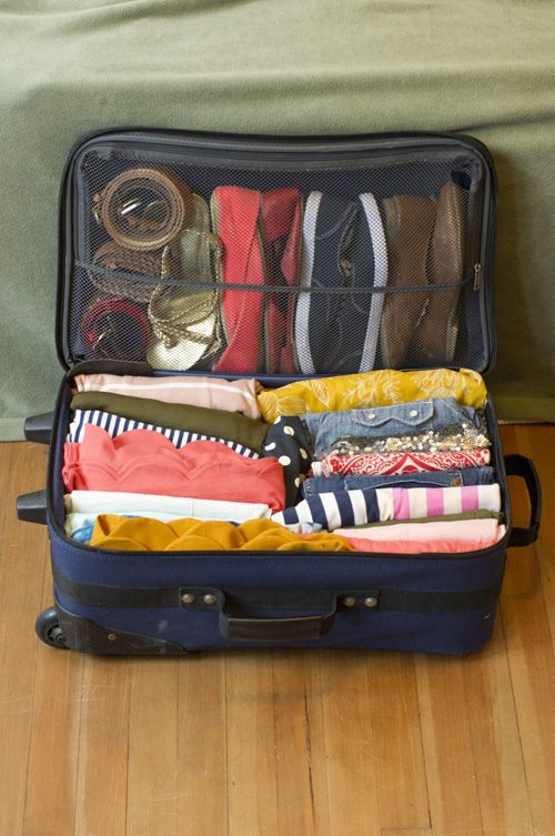 Ideas; How to pack more in less space. Need to remember this!!!