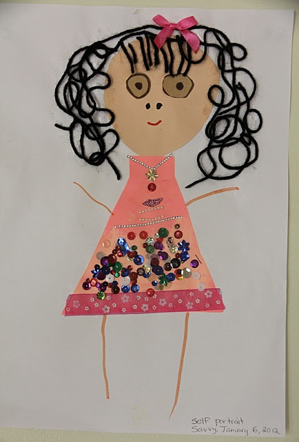 Self portrait collages - cutting and pencil skills could be assessed.  As well as using colours for purpose and using media.