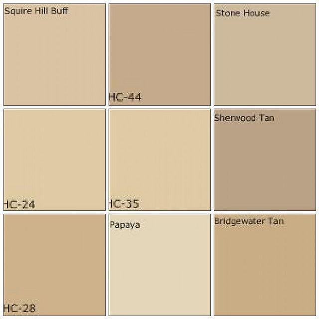 Favorite tans benjamin moore squire hill buff lenox tan for Popular tan paint colors