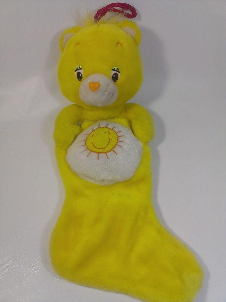 "Care Bears Yellow Sun Sunshine Bear Christmas Stocking Plush Stuffed Animal 20""  #CareBears"
