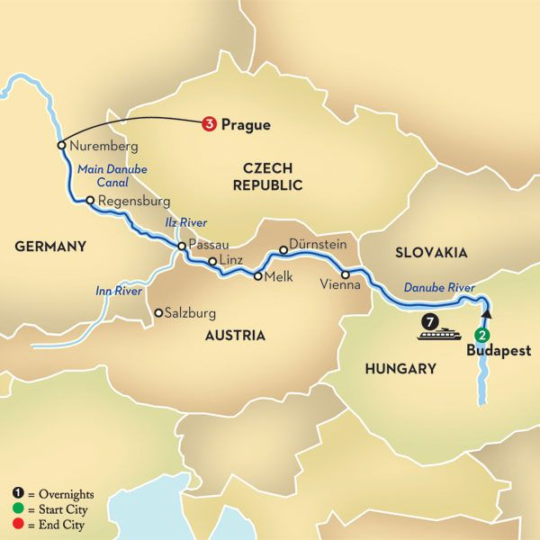Blue Danube Discovery Map Places Pinterest Discovery - Danube river location on world map