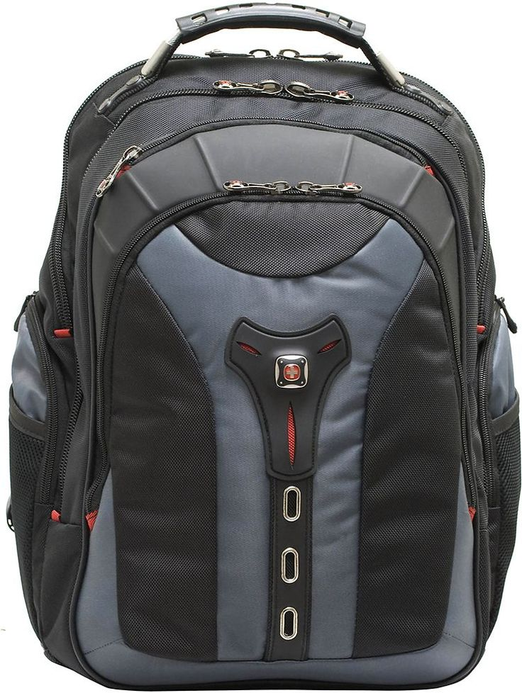 Swiss Gear - Pegasus Laptop Backpack - Black/Blue, 27306060
