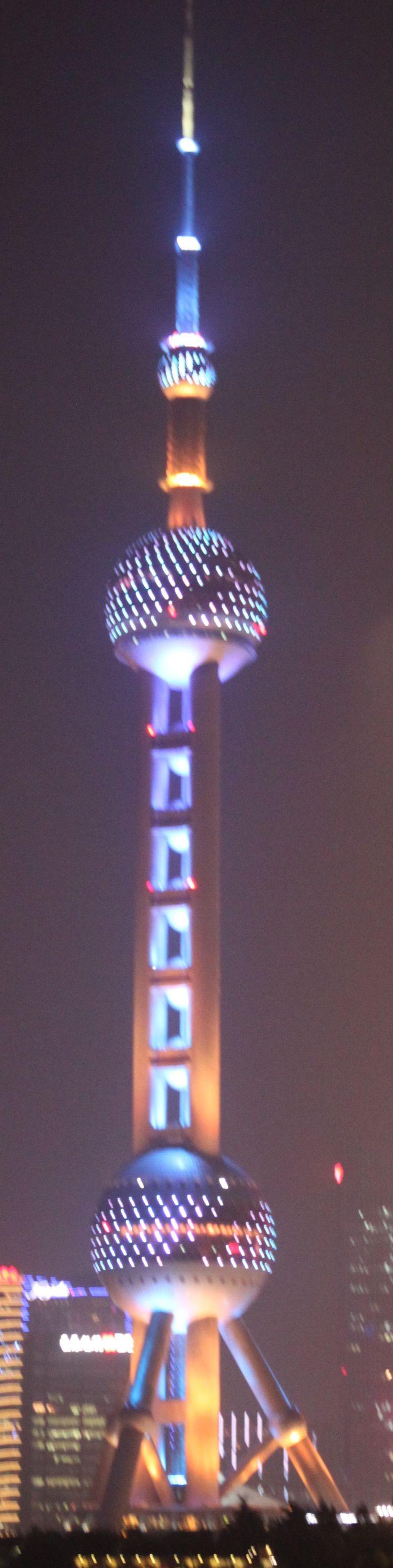 Night lights on the Bund,Pearl Tower