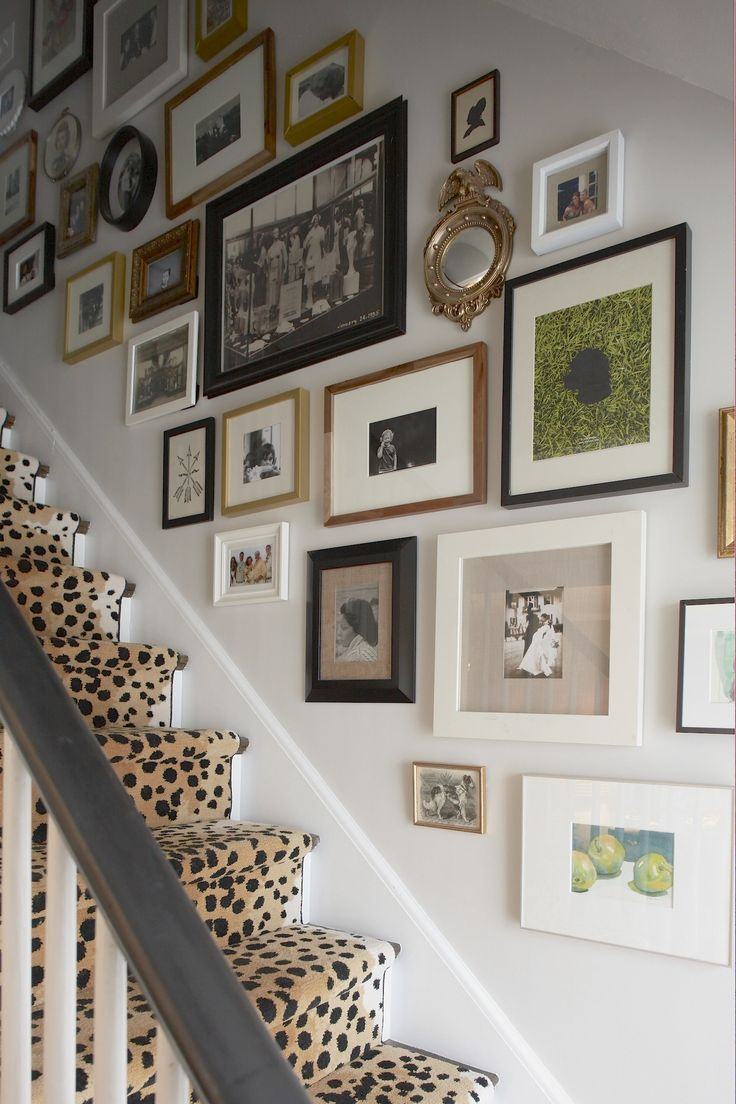 Portfolio - Elements of Style Blog love the carpet and this is exactly what I'd like to do up the stairwell, with pics of all the kids :)