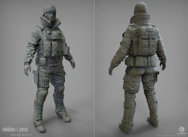 ArtStation - Frost | JTF2 | Rainbow 6 | Siege | Black Ice, J. Mark