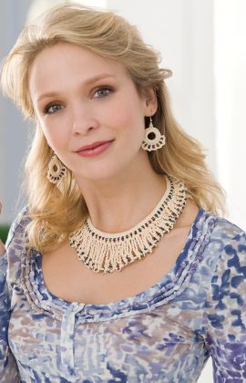 Beaded Necklace and Earrings ~ free pattern