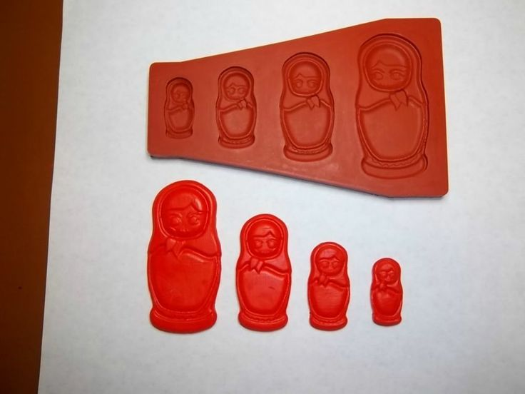 Fondant Doll Mold Russian (A matryoshka doll mold)