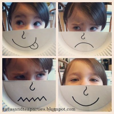 """Paper plate emotions. Would make a great craft for a """"My Body"""" (emotions) unit. Books to read and other ideas presented on the ..."""