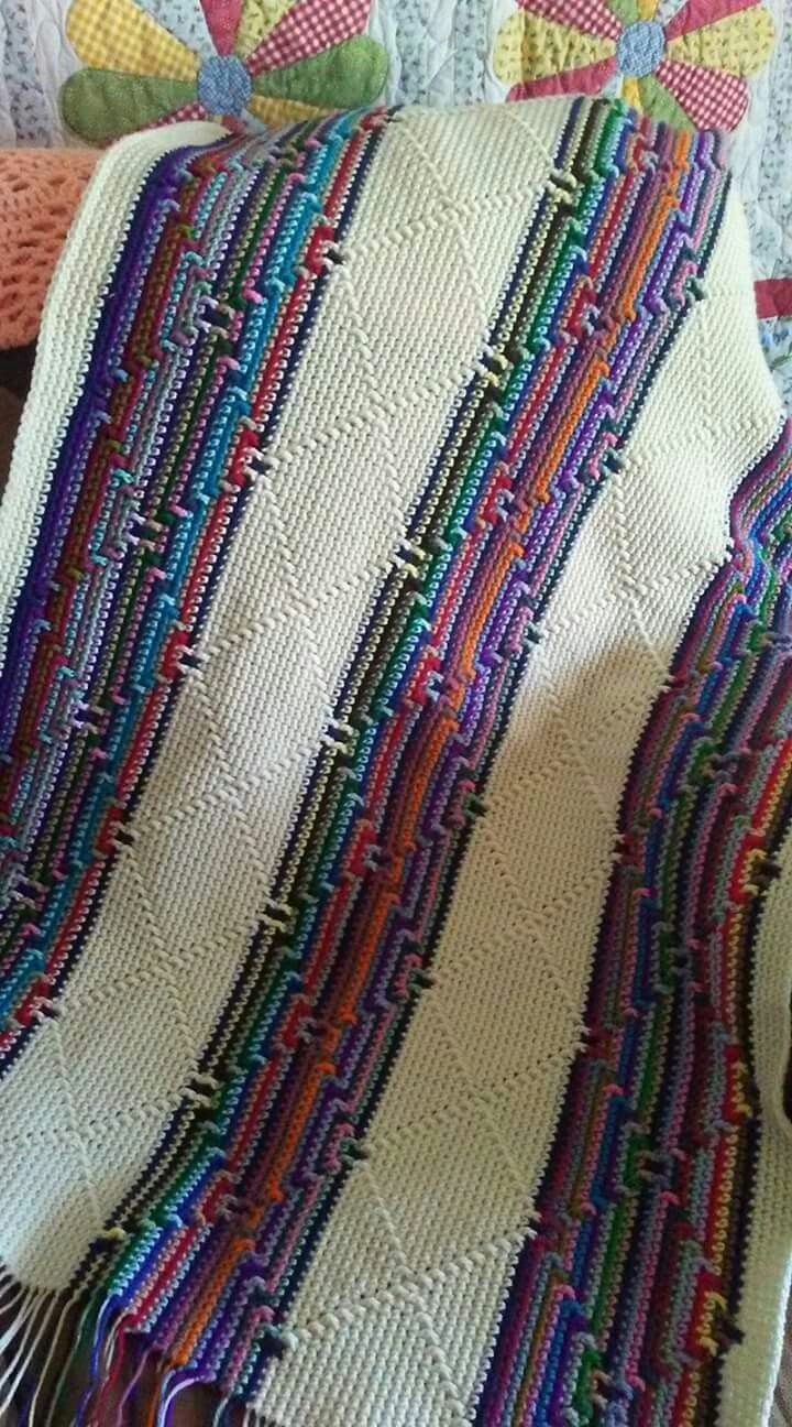 Navajo Indian Diamond Afghan Made So Called Diamond Stitch Crochetafghan Diamondafgh - Baby Teppich Braun