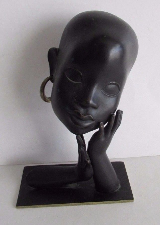 Vtg Hagenauer Art Deco Sculpture Bronze African Head Vienna Austria   | eBay