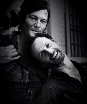 Norman Reedus & Andrew Lincoln: their bromance is sweet! I love when guys can admit they love their friends! :-)