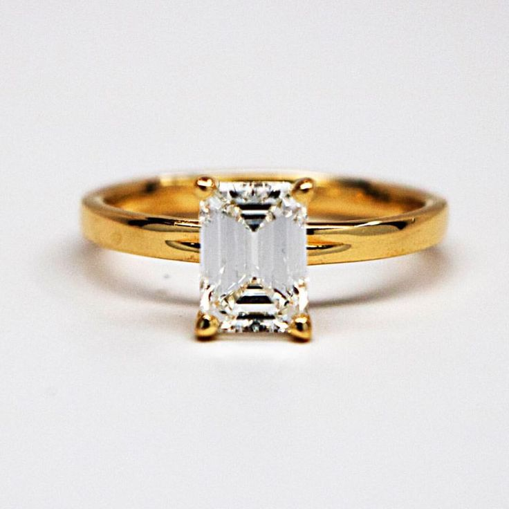 A huge holiday surge in the emerald cuts! The client asked for the perfect emerald cut, so we delivered an internally flawless diamond with the perfect cut dimensions to maximize the scintillation without sacrificing the shape. Proposing at night, our client was wowed with how much it still picked up the ambient light!