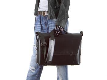 Aktentasche Leder Damen Herren Umhängetasche modern 3 Fächer schwarz Tasche Schultertasche Lehrertasche Businesstasche