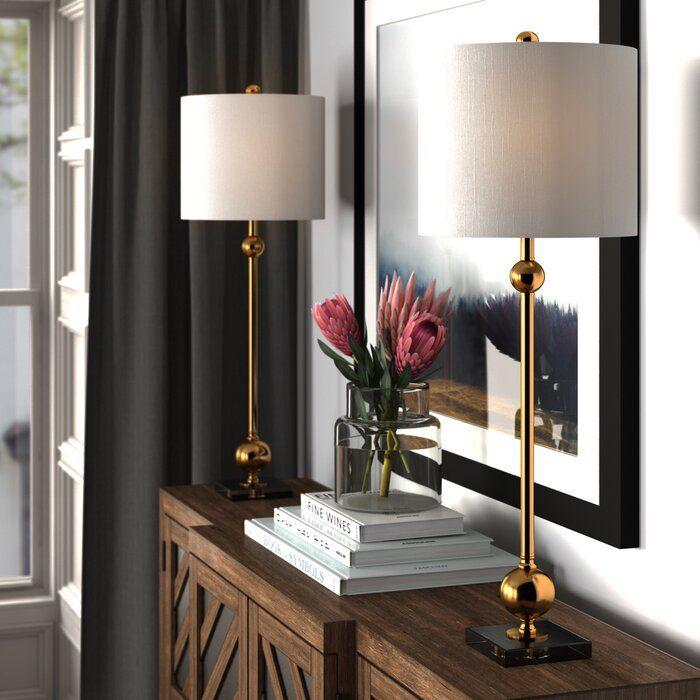 Woodsburgh 35 Table Lamp Set Reviews Joss Main Lamps Living Room Table Lamps Living Room Ceiling Lights Living Room