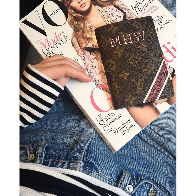 Louis Vuitton monogram passport cover and Vogue