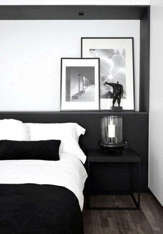 Male Bedroom Decor Modern Black And White Design