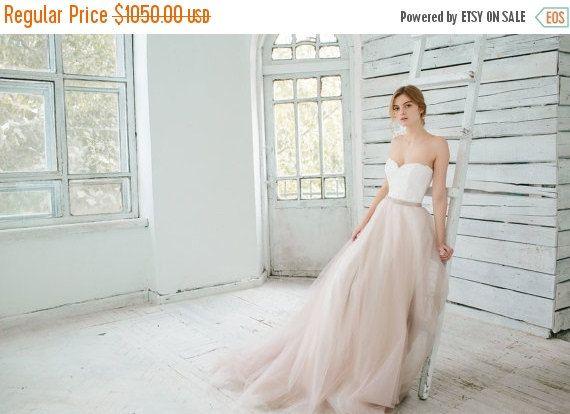 Cyber Monday Sale 20% Blush wedding gown // by CarouselFashion