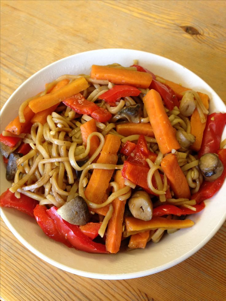 Syn free teriyaki chicken stir fry with carrots, peppers and mushrooms for speed! #SlimmingWorld