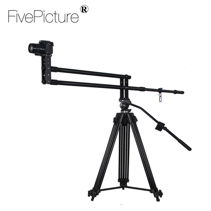 "Filming Equipment Aluminum Video Slider Camera Crane Jib 3/8 "" 1/4""Screw mount Jimmy jib For DSLR Cameras"