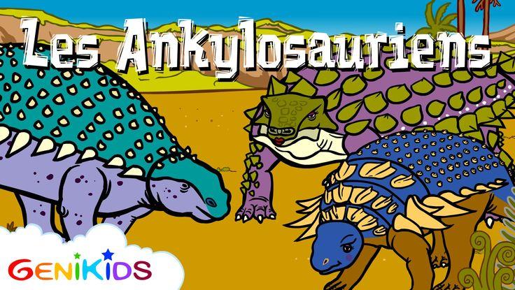 Les Ankylosauriens - 2ème partie - La vie des dinosaures - Dessin animé éducatif Genikids