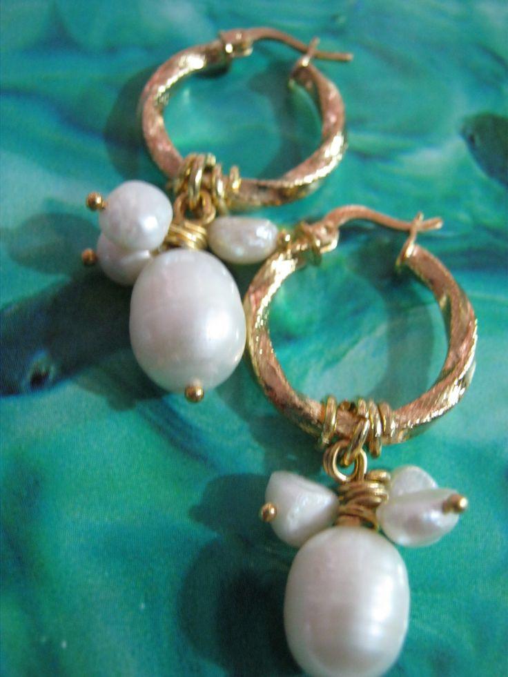 Candongas entorchadas Perlas del Mar.