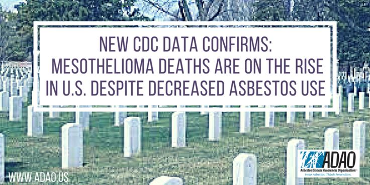 New CDC Data Confirms Mesothelioma Deaths are on the Rise in US Despite Decreased Asbestos Use