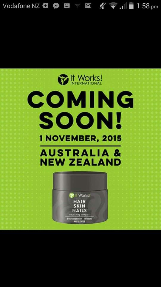 Exciting news. This top selling US products soon coming to Australia and New Zealand. Luscious hair and eyelashes are easily attainable. Skins elasticity is boosted and nails become strong and healthy. Cant wait.