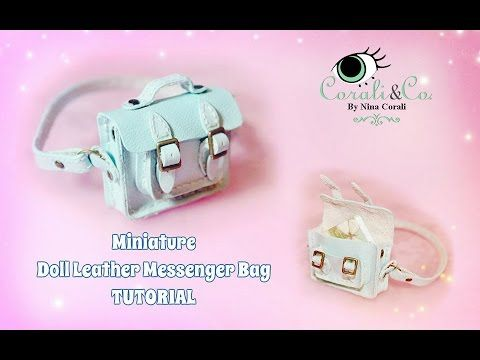 Miniature Doll Leather Handbag Tutorial For Blythe, Pullip, Barbie (Subt...